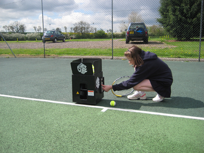 Tennis Tutor Cube Tennis Ball Machine