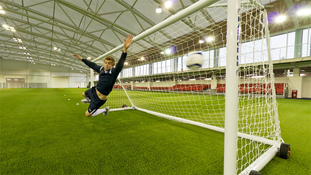 Harrod UK football goal at the National Football Centre