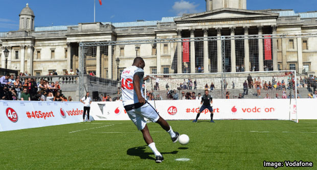 Vodafone 4G Launch - Trafalgar Square Football Event