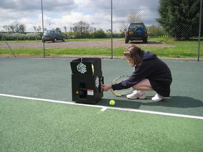 Tennis Tutor Cube Tennis Ball Machine