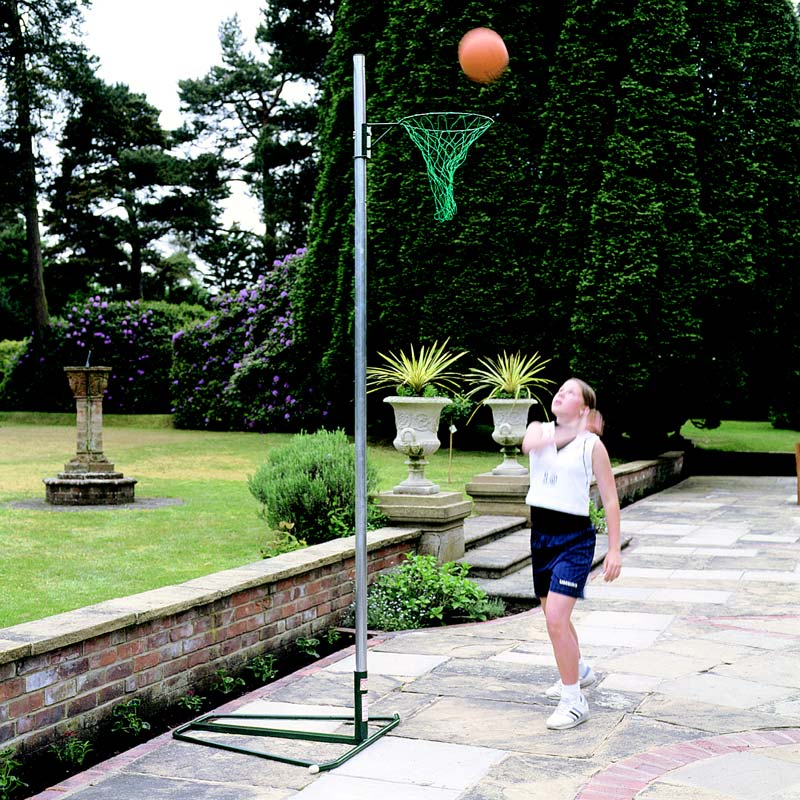 Single Wheelaway Netball Post With Movement Wheels 3