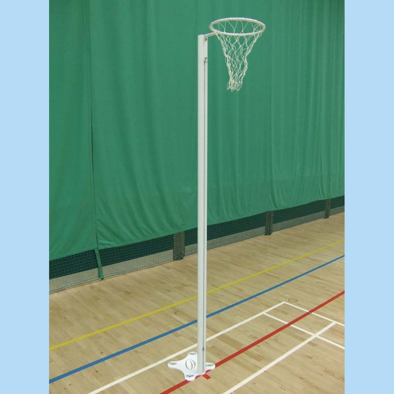 Floor Fixed International Aluminium Netball Posts Harrod Uk