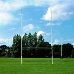 Socketed Steel Rugby Posts (12m high)