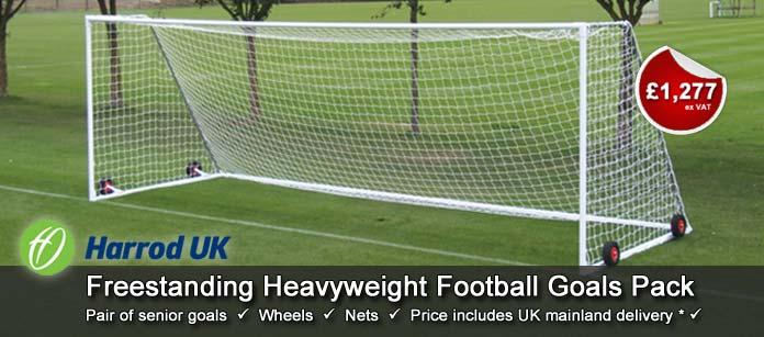 Harrod UK Senior Freestanding Heavyweight Football Goals Pack