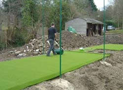 Installation of a new cricket wicket can generate considerable amounts of spoil!