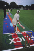 A Flicx cricket coaching wicket.